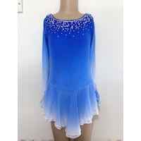 Blue Figure Skating Dresses Custom Girls Competition Skating Dress