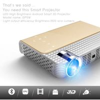simplebeamer GP5W 3D led Projector 1800 lumens with Android 4.44 OS,wifi Smart projector Bluetooth e thumbnail image
