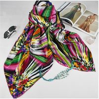 custom design silk satin scarf digital printing thumbnail image