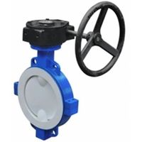 HOT Fluorine Lined Wafer Butterfly Valve D371F46
