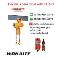 WOKAITE electric hoist 2 ton electric chain hoist with electric trolley