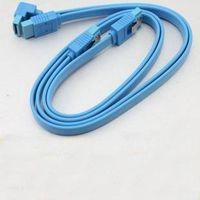 Free Shipping 4pcs SATA 3 III 3.0 7-pin Data HDD Hard Drive Disks Blue Cable