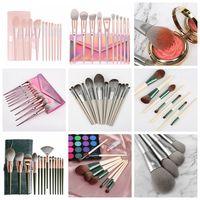 eco frienldy eyeshadow wood handle cosmetic make up powder foundation brushes set packet super soft thumbnail image
