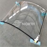 Large Safety Low Iron Extra Clear Curved Glass For Glass Wall