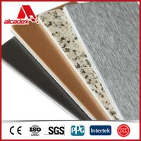 Grade B1 fire preventing ACP wall board for exterior decoration