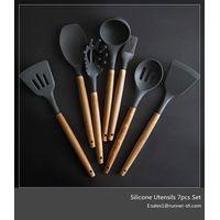Amazon hot silicone kitchen utensils 7pcs set thumbnail image