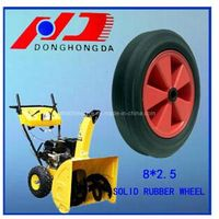 Good Quality Plastic Rim 8*2.5 Solid Rubber Wheel