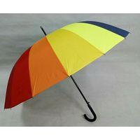 rainbow golf umbrella straight auto open golf umbrella