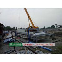belt filter press for dewatering river sludge