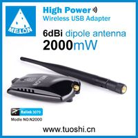 RT3070 chipset,150mbps,6 dbi Wireless usb adapter