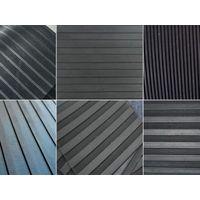 Wide ribbed rubber sheet/mat/flooring rubber pad thumbnail image