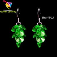 paparazzi jewelry reviews earring accessories green blue Swarovski crystal beads earring