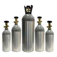 1 - 10 L refillable food aluminum co2 tank cylinder co2 gas cylinder for beverage aquarium
