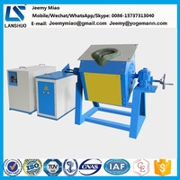 35KW Induction Titling steel Melting Furnace