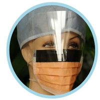 disposable easy breath face mask face mouth cover mask with splash shield