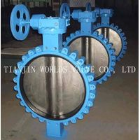 DN 600 API609 VITON/FKM LINING WAFER LUG CONCENTRIC BUTTERFLY VALVE thumbnail image