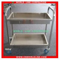 stainless steel mobile bowl cart