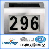 Solar lighted plate with numbers high brightness 4*white led solar powered led house number display thumbnail image
