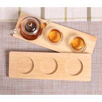 Wooden 3 Cup Tray,Coffee Cup Tray,Glass Cup Tray and Tea Cup Tray thumbnail image