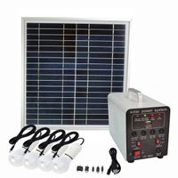 15W Solar Panel 7ah Lead Acid Battery LED Lamps Small DC Solar System Lighting Kit