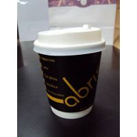 Disposable Paper Cups for Hot Drinks with Plastic Lid
