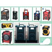 Heavy Duty Worksite Radio with DAB+/DAB/FM bands for builders in forest
