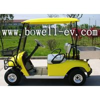 2 seat golf car with cargo box