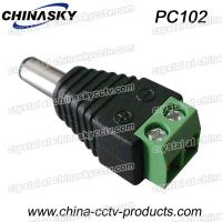 CCTV Camera Power Connector Male DC Plug with Screw Terminal, 2.1*5.5mm(PC102)
