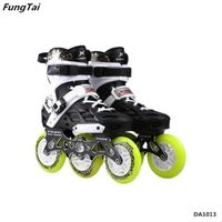 Men 2 in 1 Street Slalon Roller Inline Skates with 4 Wheels and Professional 110mm Speed Skate Shoes
