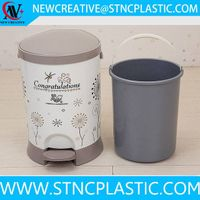 plastic waste bins with pedal