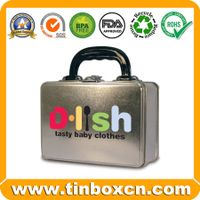 Tin lunch box,lunch tin box,tin box with handle,gift tin box