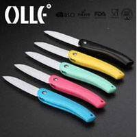 colored ceramic folding knife