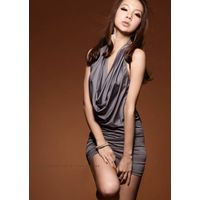 Stylish Hollow Back Korean Style Halter Dress,Cotton Dress,Ruffled Dress