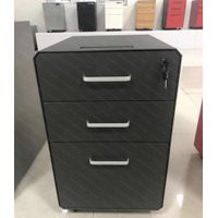 Office Metal Mobile Pedestal Mobile 3 Drawers Cabinet