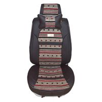 universal leather mix cotton car seat covers massage