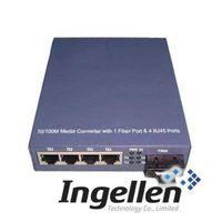 10/100M Ethernet Media Converter with 1 Fiber Port & 4 RJ45 Ports thumbnail image