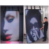 Soft mobile LED curtain