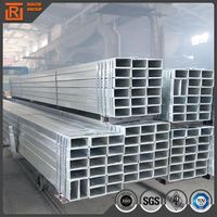 High quality Hot dipped galvanized rectangular steel pipes building materials