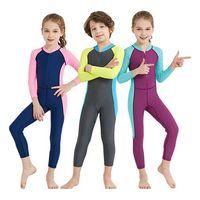 Children one-piece swimwear long sleeve rash guard kids swimsuit thumbnail image