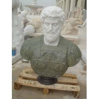 Chinese Marble Bust, Stone Statue