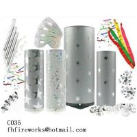 C035 New Year Party Bomb 21cm Silver Small Star
