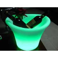 LED ice bucket with glowing lights