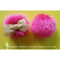 long plush puff, Heart-shaped puff,Plush Puff, Powder Puff, cosmetic powder puff,long velour powder