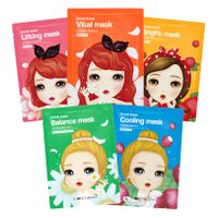 Orchid Flower Character Mask 5 Types