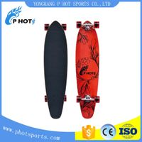 7 layer canadian maple single kick heat transfer longboard skateboard thumbnail image