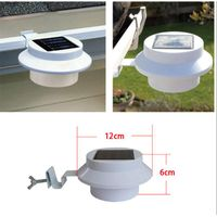 Outdoor Waterproof 3LED Solar Sink Fence lamp Wall Light