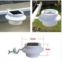 Outdoor Waterproof 3LED Solar Sink Fence lamp Wall Light