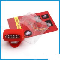 LED Bicycle headlight silicone lamp riding equipment safety warning tail light 7LED (5 white LED + 2