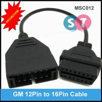 GM 12Pin Male Connector to OBDII 16Pin Female Diagnostic Cable