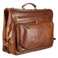 Luxury leather Suit / Garment Carrier/travel suit carrier/garment leather suit bag/leather garment b